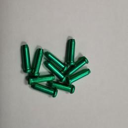 TERMINALES DE CABLE DE 2.4MM, color verde