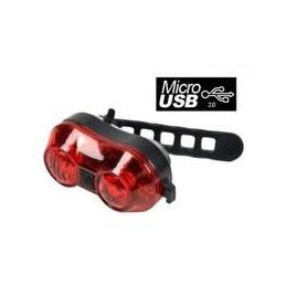 LUZ TRASERA RECARGABLE USB...